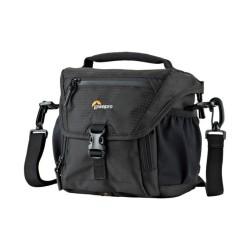 Чанта за фотоапарат Lowepro Nova 140 AW II, за DSLR фотоапарати и обективи, полиестер, черна