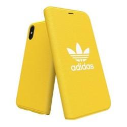 Калъф за Apple iPhone XS/X, термополиуретан, Adidas Originals Booklet Case, жълт
