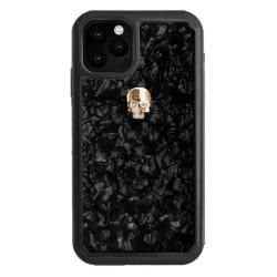 Калъф за Apple iPhone 11 Pro Max, хибриден, Bling My Thing Treasure Gold Skull Nacre IPXI-L-TR-BK-GLD, удароустойчив, с кристали Swarovski, черен