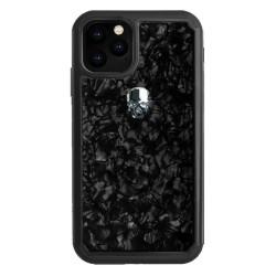 Калъф за Apple iPhone 11 Pro Max, хибриден, Bling My Thing Treasure Silver Skull Nacre IPXI-L-TR-BK-SLV, удароустойчив, с кристали Swarovski, черен