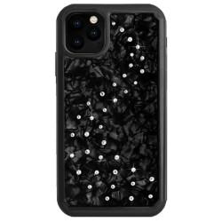 Калъф за Apple iPhone 11 Pro, хибриден, Bling My Thing Milky Way Nacre IPXI-MW-BK-CRY, удароустойчив, с кристали Swarovski, черен