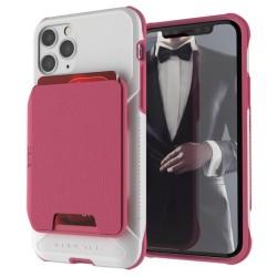 Калъф за Apple iPhone 11 Pro, хибриден, Ghostek Exec 4 Case GHOCAS2278, удароустойчив, с отделение за карти, розов