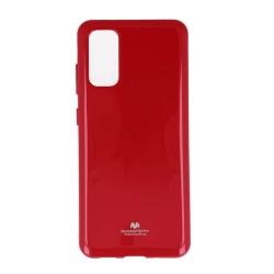 Калъф за Samsung Galaxy S20, термополиуретанов, Mercury Goospery Jelly, червен