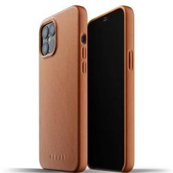 Калъф за Apple iPhone 12 Pro Max, естествена кожа, Mujjo Full Leather Case (MUJJO-CL-009-TN), кафяв