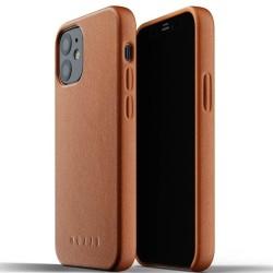 Калъф за Apple iPhone 12 mini, естествена кожа, Mujjo Full Leather Case (MUJJO-CL-013-TN), кафяв