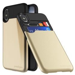 Калъф за Apple iPhone XS/X, хибриден, Prodigee Undercover, скрито отделение, златист
