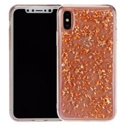 Калъф за Apple iPhone XS/X, термополиуретанов, Redneck Mydas (RNCS02073), прозрачен/розово злато