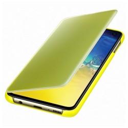 Kалъф за Samsung Galaxy S10e, Samsung Clear View Cover, жълт
