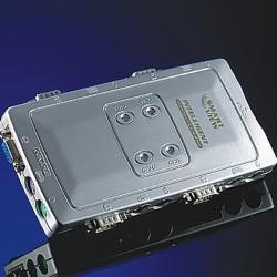 KVM суич ROLINE 14.99.3294, от 1x VGA(ж), 2x PS/2(ж) към 4x VGA(ж), 8x PS/2(ж), 1 устройство