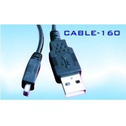 Кабел Royal 160 34248, от USB Type A(м) към USB Mini(м) 1.8m, черен