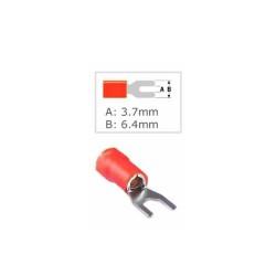 Кабелна обувка Fast On ST-011/SV 1.25-3.5L, 100 бр., червена