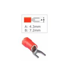 Кабелна обувка Fast On ST-013, 100 бр., червена