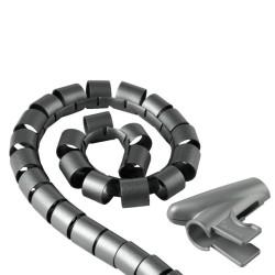 Шлаух спирала Hama 20600, полиетиленова, 20мм диаметър, 2.5м дължина, сив