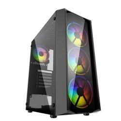 PowerCase JX188-17, ATX/Micro ATX/Mini ITX, 1x USB 3.0, черна без захранване