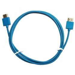 Кабел DeTech, от HDMI(м) към HDMI(м), 1.5m, син