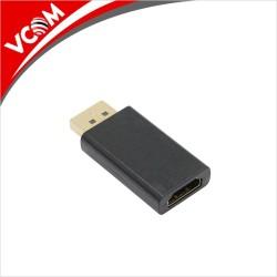 Адаптер VCom, от DisplayPort(м) към HDMI(ж), черен