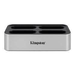 Докинг станция за четци на карти Kingston WFS-U, USB C, поддържа до 4x Kingston WFS-SD/WFS-SDC четци за карти, сив