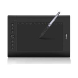 Графичен таблет Huion Inspiroy H610PRO V2 (черен), 254 x 158.8 mm (10 x 6.25 inch), 5080 lpi, 8192 ниво на натиск, писалка