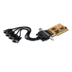 Контролер Digitus DS-33002-1, от PCI към 4x RS232(м), 600bps