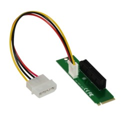 Екстендър Makki MAKKI-M2-PCIE-4x-v1, от M.2(м) към PCIe x4(ж), предназначен за добив на криптовалути