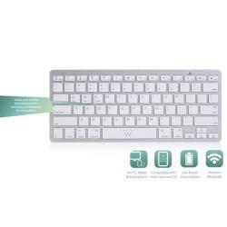 Клавиатура Ewent EW3163, безжична, Bluetooth, (Qwerty), бяла