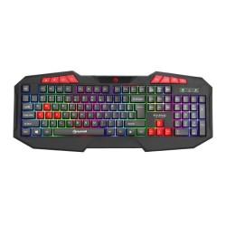 Клавиатура Marvo K602, гейминг, LED, черна, USBMarvo геймърска клавиатура Gaming keyboard 112 keys - K602 - Rainbow backlight