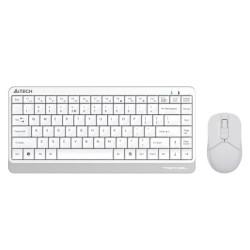 Комплект клавиатура и мишка A4Tech FG1112 Fstyler, безжични, оптична мишка (1200 dpi), USB, бели