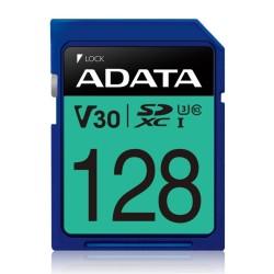 Карта памет 128GB SDXC A-Data Premier Pro, Class 10 UHS-I U3 (V30S), скорост на четене 100 MB/s, скорост на запис до 80 MB/s