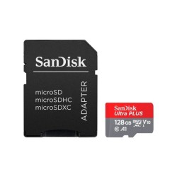 Карта памет 128GB microSDHC с адаптер, SanDisk High Endurance, Class 10 UHS-I U3, скорост на четене 100 MB/s, скорост на запис 40 MB/s
