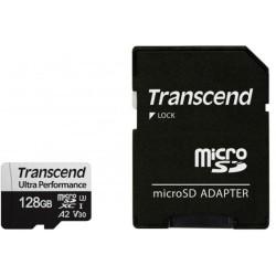 Карта памет 128GB microSDHC с адаптер, Transcend 340S, UHS-I U3, скорост на четене 160MB/sec, скорост на запис 125MB/sec