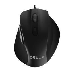 Mишка Delux M517BU, оптична(3200dpi), USB, черна