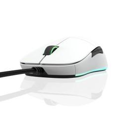 Мишка Endgame XM1 RGB, оптична (16 000 dpi), гейминг, 6 бутона, RGB подсветка, USB, бяла