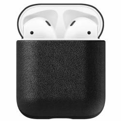Защитен калъф Nomad Leather Case за Apple Airpods, естествена кожа, черен