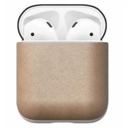 Защитен калъф Nomad Leather Case за Apple Airpods, естествена кожа, светлокафяв