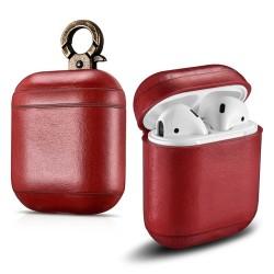 Защитен калъф Prodigee Leather Case за Apple Airpods, червен
