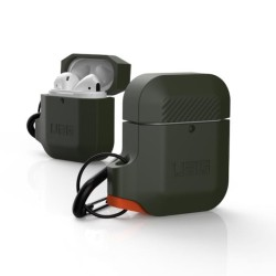 Защитен калъф Urban Armor Soft Touch Silicone Hang Case за Apple Airpods, тъмнозелен