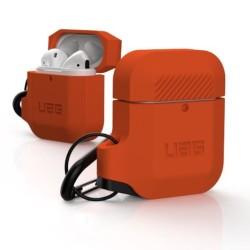 Защитен калъф Urban Armor Soft Touch Silicone Hang Case за Apple Airpods, водоусойчив, оранжев