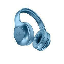 Слушалки AQL Astros, безжични, микрофон, Bluetooth, до 33 часа време за работа, Pump Bass, сгъваем дизайн, сини