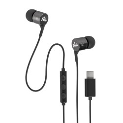 Слушалки Audictus Explorer Type-C Grey AWE-1453, микрофон, USB-C, сиви