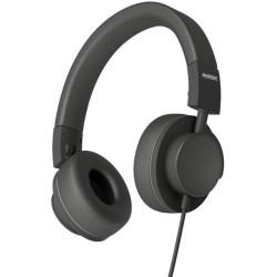 Слушалки Audictus Dreamer Black AWH-0961, AUX, наушници от еко кожа, контролер на звука, черни