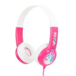 Слушалки BuddyPhones Discover 41106, AUX, детски, 32 ома, 85 dB, розови