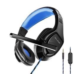 Слушалки Ovleng OV-P1, микрофон, 20 - 20000 Hz диапазон, 40mm говорители, AUX, черни