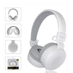 Слушалки Feinier LBS-12, микрофон, 40мм говорители, 3.5mm жак, 1.2m кабел, бели