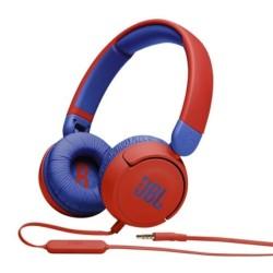 Слуашлки JBL Jr310, микрофон, AUX, червени
