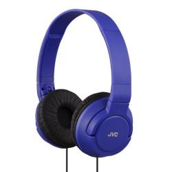 Слушалки JVC HA-S180, мощен и дълбок бас, 30мм неодимови говорители, 1.2м кабел, сини
