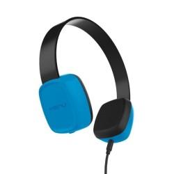 Слушалки Kenu Groovies, 40мм говорители, Sharelink кабел за споделяне на музиката, 3.5mm жак, сини