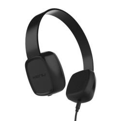 Слушалки Kenu Groovies, 40мм говорители, Sharelink кабел за споделяне на музиката, 3.5mm жак, черни