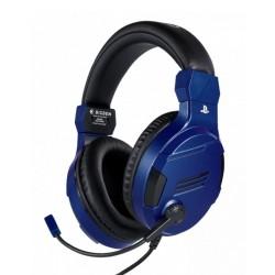 Слушалки Nacon Bigben PS4 Official Headset V3, гейминг, микрофон, за PS4, син