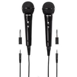 Комплект от динамични микрофони Hama Thomson M135D, 3.5мм жак, 2 бр., черни