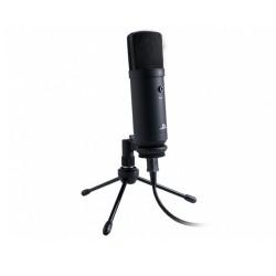 Микрофон Nacon Streaming Microphone, за PS4, USB-A към USB-B, със стойка, за стрийминг, червен